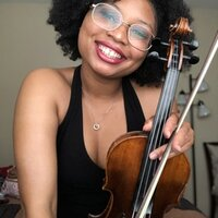 Black female violinist, playing ~13 years. Music major- violin concentration. School- WCSU