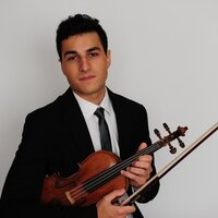 Competition winner and performing violinist, studying at the Cleveland Institute of Music