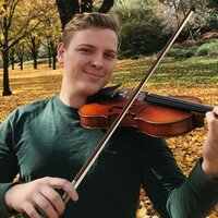A lifetime of violin experience and with a university degree, teaching from home in Sacramento.