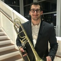 Matthew Burrows - Trombone he/him/his In the Iowa/Illinois Area performing and studying trombone all the way to Seventh position and back!
