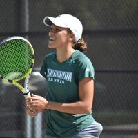 I played four years of college tennis and now I'm coaching students