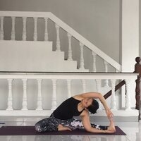 Yoga Teacher offering safe/mindful practice and focus to alignment and body awareness in Indonesia